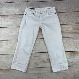 Citizens Humanity COH Kelly Crop Jeans White 30